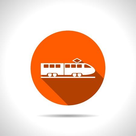 locomotion: speed train vector icon