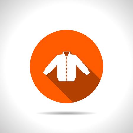 spring coat: casual jacket vector icon