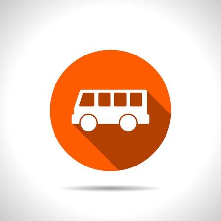 schoolbus: bus stop vector icon
