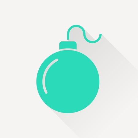 detonate: bomb simple vector icon Illustration