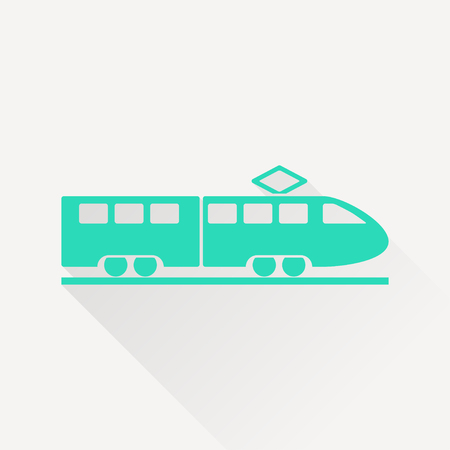 high speed rail: speed train vector icon