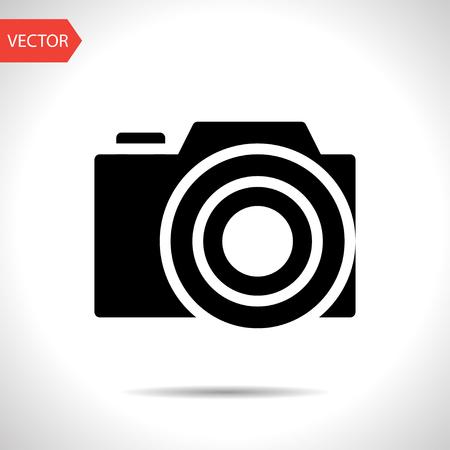 photo icon: photo camera vector icon Illustration
