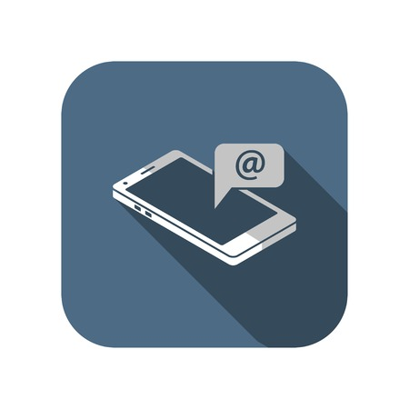 smart phone message 3d isometric icon Illustration