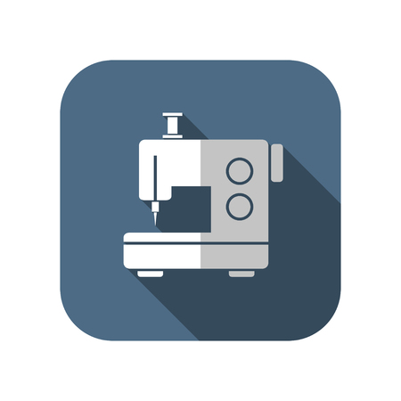 sewing buttons: sewing machine vector icon Illustration