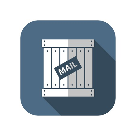 three dimensional accessibility: mail cargo vector icon