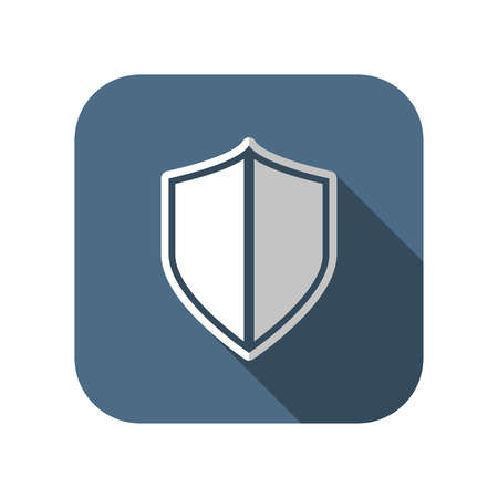 honour guard: shield safety vector icon