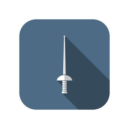 epee: rapier epee vector icon