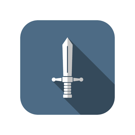 longsword: medieval sword vector icon Illustration