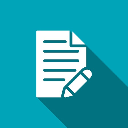 document with pen vector icon