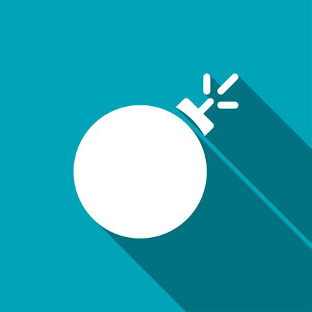 heavy risk: burning bomb vector icon