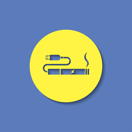 e cig: electronic cigarettes charge from pc port icon Illustration