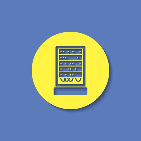 webhosting: server cabinet vector icon