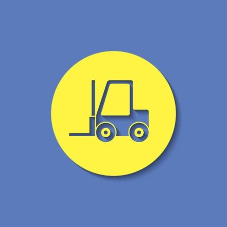loader: forklift loader vector icon