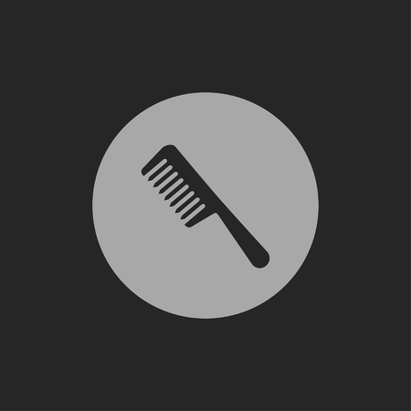 black barber: hair comb vector icon