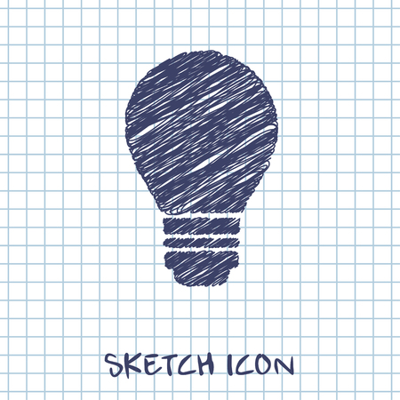 electric bulb: electric bulb vector doodle icon. Sketch illustration