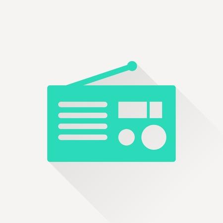 shortwave: retro radio vector icon
