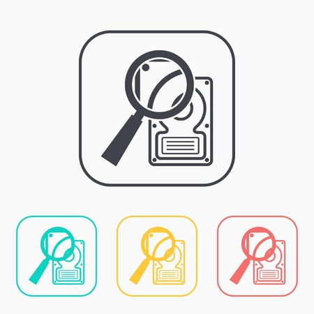 lens unit: icon of hard disk search color set