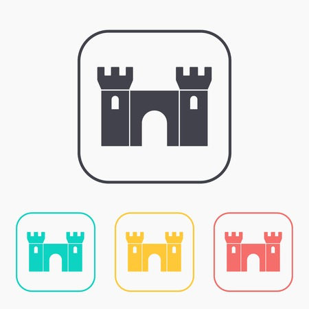 loophole: icon of castle color set Illustration