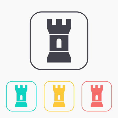 icon of tower color set