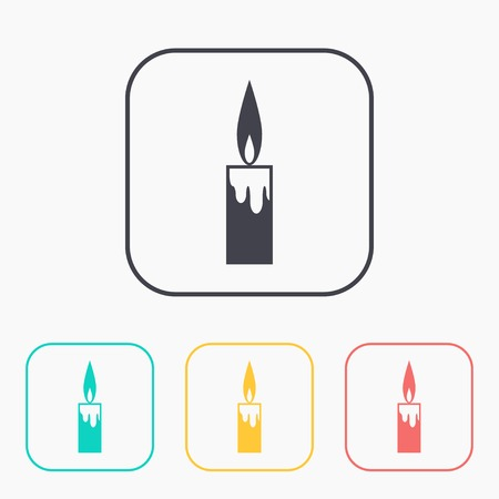 paraffin: icon of candle color set