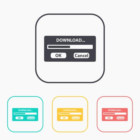 download window progressbar icon color set