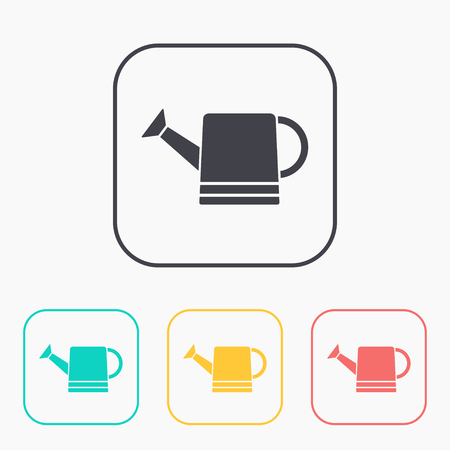 bailer: Watering can icon color set