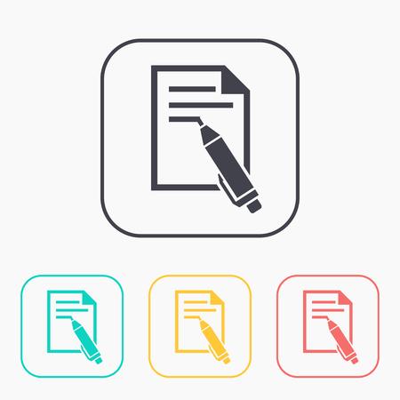 Web of pen color icon set