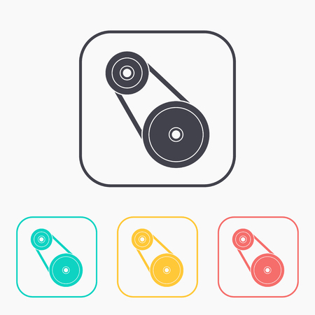 movement control: color icon set of belting Illustration