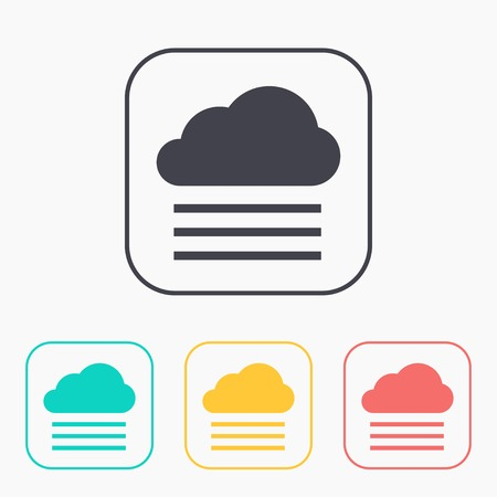 wheather: color icon set of foggy