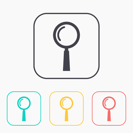 low scale magnification: find color icon set Illustration
