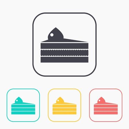 porcion de pastel: pedazo del vector del icono de la torta. Vectores