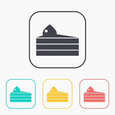 piece: Vector piece of cake icon. Illustration