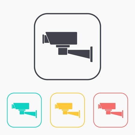 monitored area: color icon set of camera