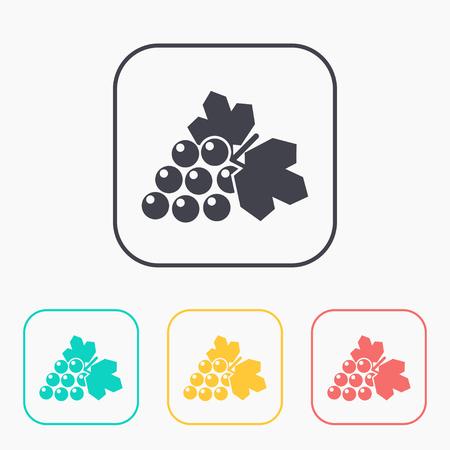 Vector grape icon. Illustration