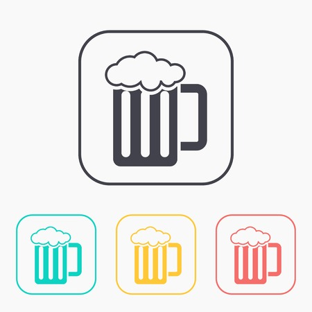 guinness: Glass of beer color icon set