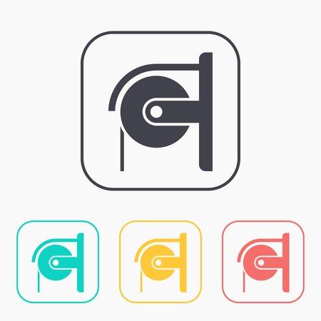 fecal: Toilet paper color icon set