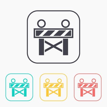 roadblock: Construction Roadblock color icon set
