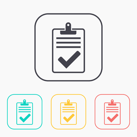 test passed: Quality control related vector color icon set. Pass
