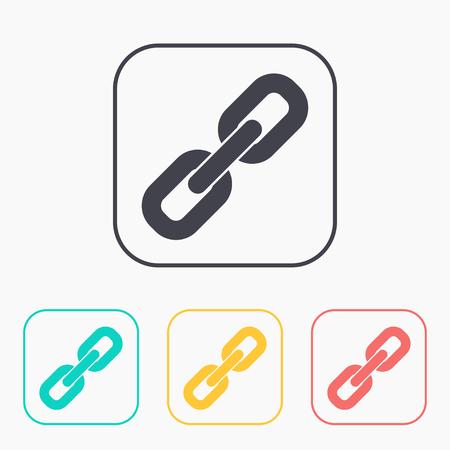 pressure linked: Chain link color icon set Illustration