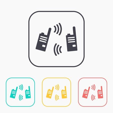 Ilustracja nowoczesnego radia