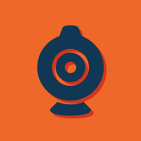 web camera: web camera vector icon Illustration