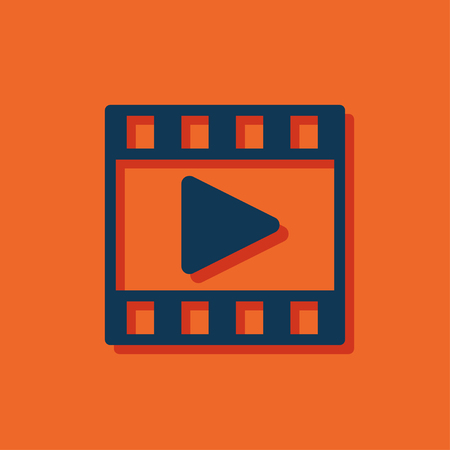 blue web icons: video film vector icon