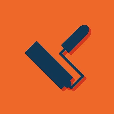 paint roll vector icon Illustration