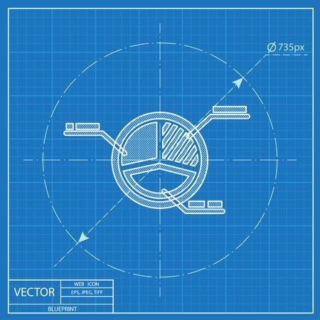 diagramme circulaire plan d'affaires icône