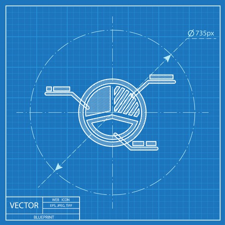 grafico a torta business icon progetto