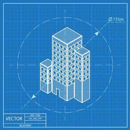 City buildings isometric 3d blueprint icon royalty free cliparts city buildings isometric 3d blueprint icon stock vector 54116532 malvernweather Choice Image