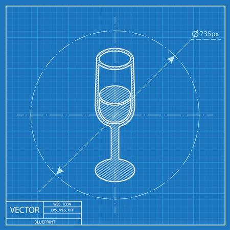 Glass of wine isometric 3d blueprint icon royalty free cliparts glass of wine isometric 3d blueprint icon royalty free cliparts vectors and stock illustration image 54116538 malvernweather Image collections