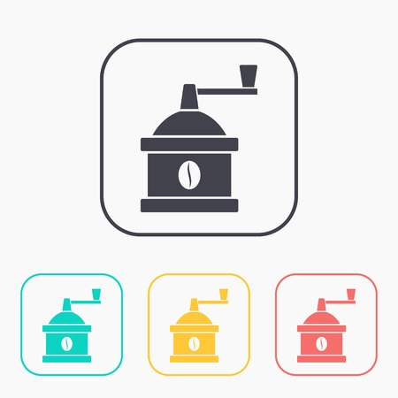 mill: kitchen icon of coffee mill Illustration