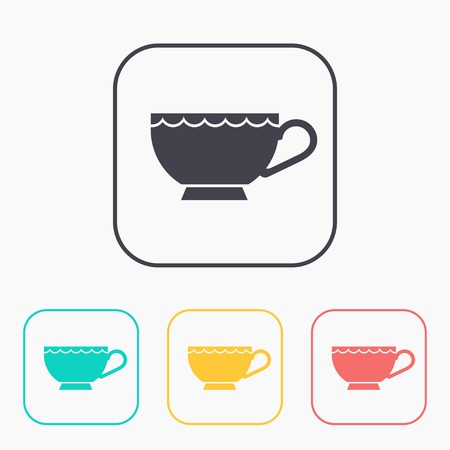 coffe break: kitchen icon of cup