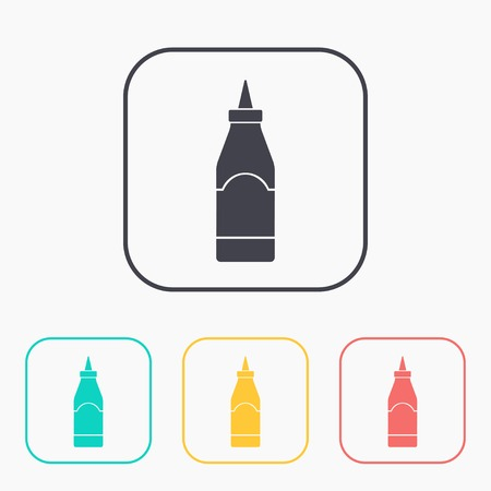 squirt: kitchen icon of sause bottle Illustration